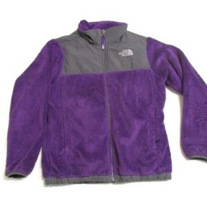 The North Face Girl's Purple Fleece Jacket 14 16 L